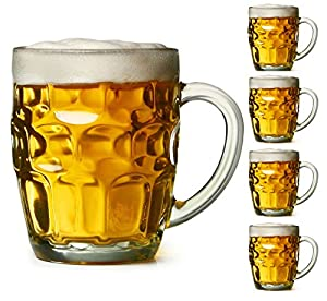 Dimple Stein Beer Mug - 19 Oz (4 Pack)