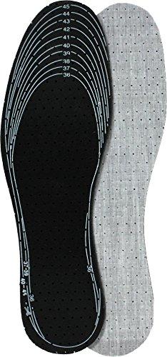 Einlegesohlen für Sicherheitsschuhe mit extra starker Aktivkohle Schwarz/Grau