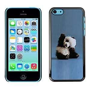 Be Good Phone Accessory // Dura Cáscara cubierta Protectora Caso Carcasa Funda de Protección para Apple Iphone 5C // Tiny Baby Panda Quote Blue China Animal