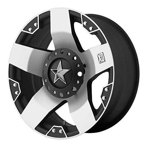 """XD Series by KMC Wheels XD775 Rockstar Matte Black Wheel With Machined Face (18x9""""/5x127, 135mm, 0mm offset)"""