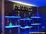 LED Lighted Floating Shelf with lights- 4' Long x 9'' Deep w/ Power Supply & LED Controller