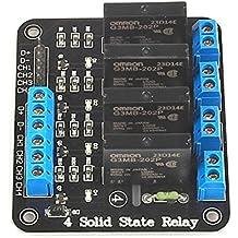 SainSmart 5V 2A Solid State Relay Module High Level Trigger Black