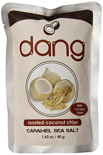 Dang Toasted Coconut Chips, Caramel Sea Salt, 1.43 Ounce (Pack of 12)