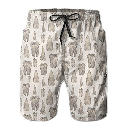 YongColer Men's Swim Trunks, Big & Tall Board Shorts, Summer Loose Essentials Half Pants, Quick Dry Beach Outdoor Workout Canine Teeth Comfort Shorts Swimwear/Plus Size