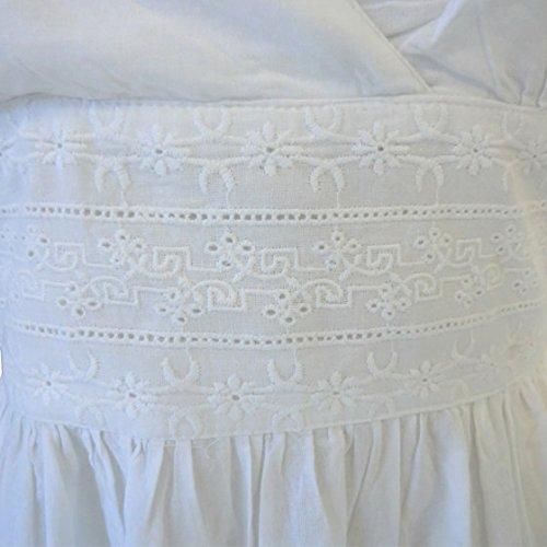 Powell Craft Henrietta.Chemise De Nuit. Femme.100% Coton.blanc