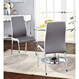 "Simple Living Nora Dining Chairs (Set of 2) | Featuring Two Tone Chair With 2.5 "" Thick Chair Pad"