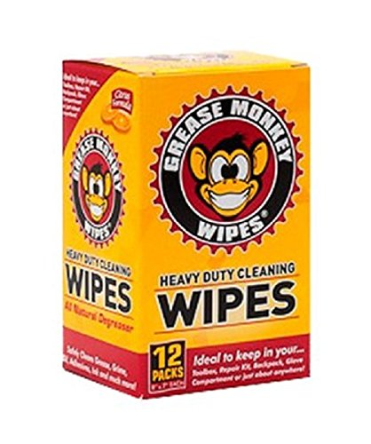 - Grease Monkey Individual Heavy-Duty Cleaning Wipes, 12-Count