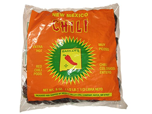 (Barker's Extra Hot Red Chili Pods From Hatch, New Mexico - 8 Ounce)