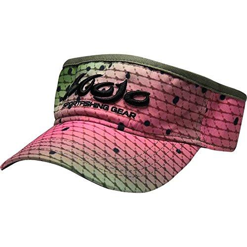 Mojo Sportswear Finny Visor (OSFA) One size fits Adults (Rainbow Trout, OSFA) (Rainbow Visor)