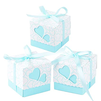 100 × Cajas de Caramelo Dulces Bombones para Boda Fiestas Cumpleaños Bautizo Detalles Recuerdos Decoración Favor
