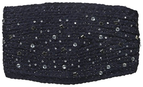 David & Young Women's Solid Headwrap with Scattered Stones, Grey, One Size