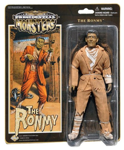 "Ronmy - Presidential Monsters - Ronald Reagan as the Mummy - 8 1/4"" tall fully poseable action figure with cloth costume"