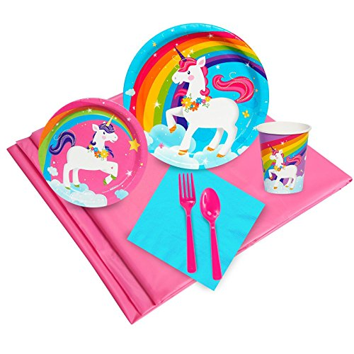 BirthdayExpress Fairytale Unicorn Party Supplies - Party Pack for 24 Guests -