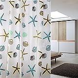 YOLOPLUS 72x78  Inch Mildew-Free Water-Repellent PEVA Shower Curtain (180CM*200CM)