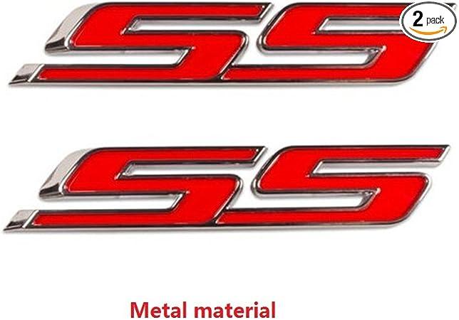 Sanucaraofo 1pc OEM Black Ss Emblem 3D Badge Decal for Camaro Ss Chevy Sierra Flat Matte