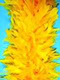 Cynthia's Feathers 80g 72' Turkey Chandelle Feather Boas over 30 Color & Patterns (Gold Yellow)