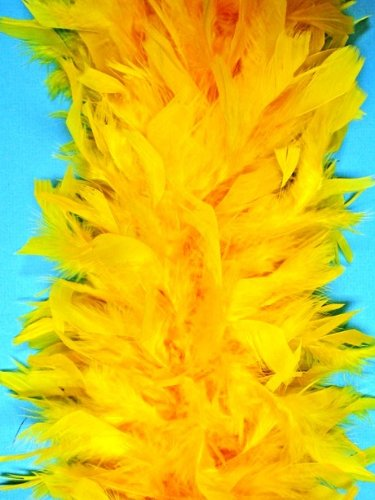 80 Gram Chandelle Feather Boa - GOLD 2 Yards (72