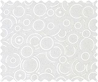 product image for SheetWorld 100% Cotton Percale Fabric by The Yard, Grey Multi Circles, 36 x 44