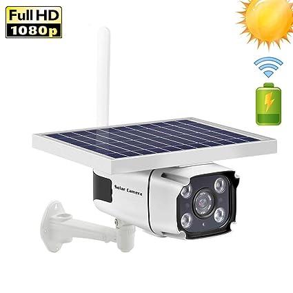 Amazon.com: AINGOL - Cámara de seguridad con energía solar ...