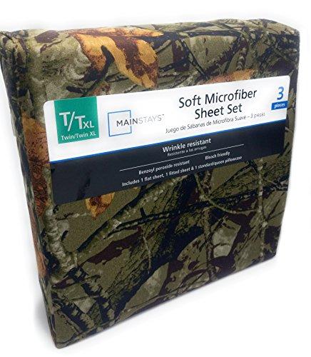 Creek Twin Sheet Set - Mainstays Twin Xl Microfiber Sheet Set, Camo, Pillowcase Too
