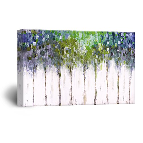 wall26 Rustic Home Decor Canvas Wall Art - Abstract Trees Modern Living Room/Bedroom Decoration Stretched and Ready to Hang - 24
