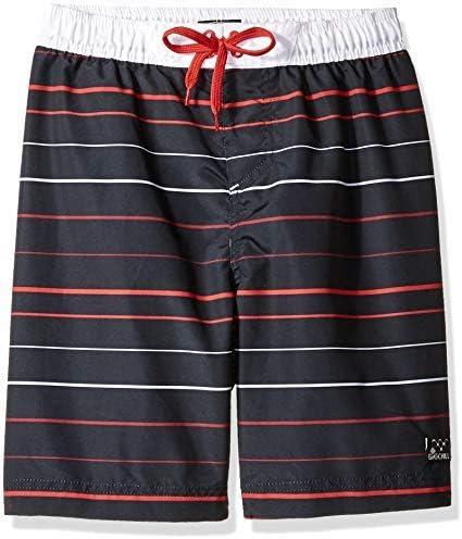 Little Boys' Printed Swim Trunks Striped Black 4 [並行輸入品]