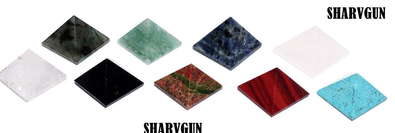 Sharvgun Lot de 9 Pyramides en Cristal de gu/érison Reiki Feng Shui