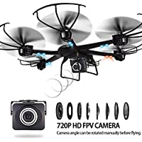 Flymemo X600 RC Hexacopter WiFi FPV Quadcopter Drone with Camera Live Video HD 720P Android/IOS APP Compatible with 3D VR Headset,One-Key Return & Headless Mode & 360 Degree Flips Roll