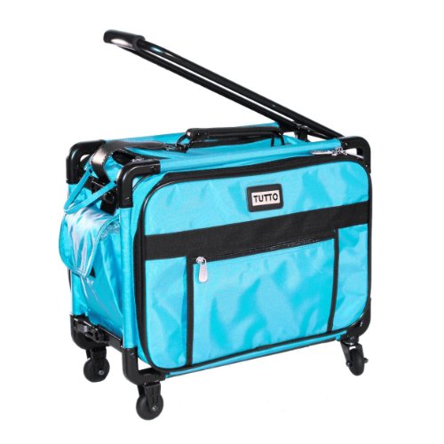 Tutto Small Machine On Wheels 17'' Turquoise Small Carry-On Size by Tutto