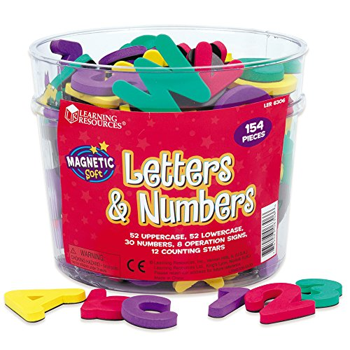 Magnetic Foam Resources Learning (Learning Resources Magentic Foam Letters & Numbers Deluxe Set)