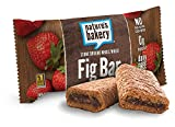 Nature's Bakery Whole Wheat Fig Bar, Strawberry, Vegan + Non-GMO, 18 Count (Pack of 6)
