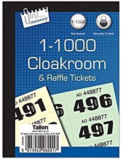 amazon com raffle tombola prize draw cloakroom ticket book 1