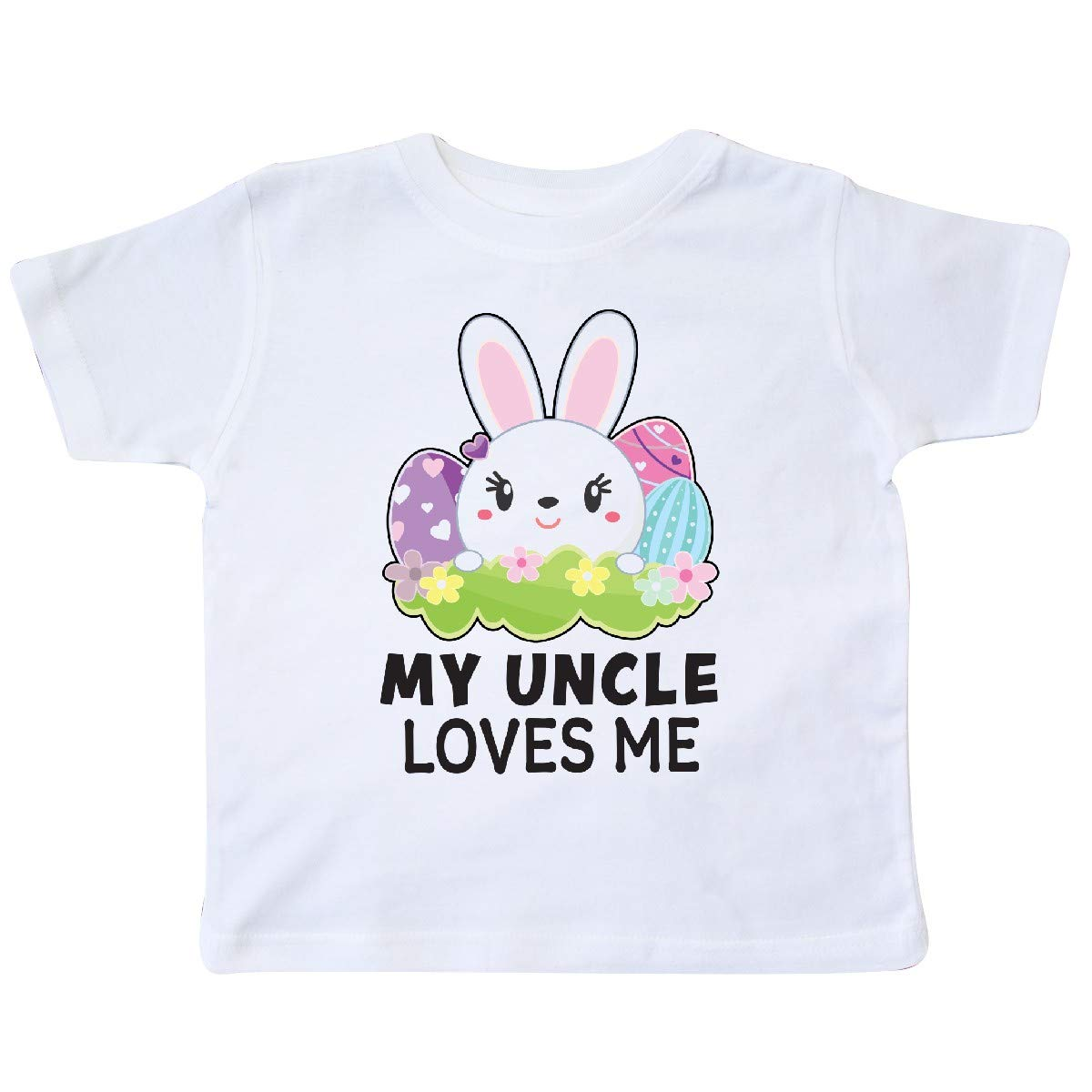 inktastic My Uncle Loves Me with Bunny and Easter Eggs Toddler T-Shirt