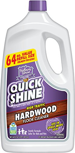 House Floor - Quick Shine High Traffic Hardwood Floor Cleaner, 64 Fl. Oz, White