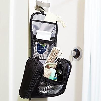 AmazonBasics Hanging Toiletry Kit, Black