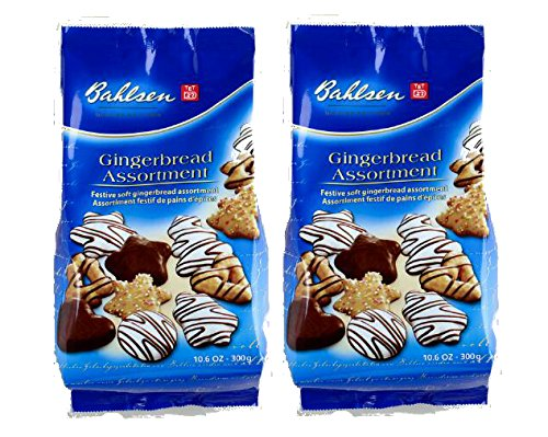 Bahlsen Holiday Lebkuchen Cookie Gingerbread Assortment, 300g (Pack of 2), German Import
