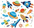 Super Space Explorer Decorative Peel & Stick Wall Art Sticker Decals