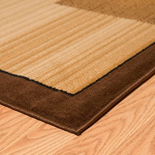 United Weavers of America Dallas Zoom Rug, 8 x 10 , Brown