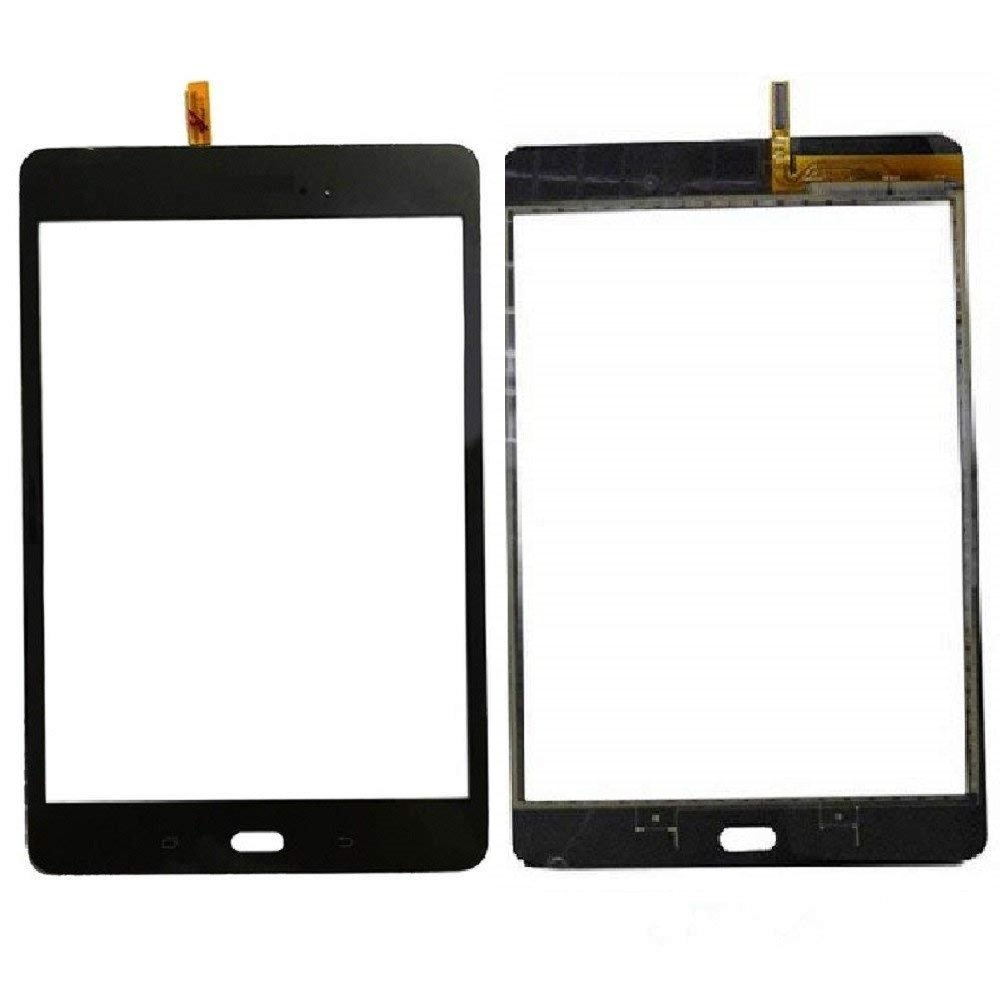 Touch Screen Glass Digitizer Replacement Samsung Galaxy Tab A 8.0 SM-T350 (Black) Adhesive, NOT T380/T385/T355/T357 & No Earpiece Hole.