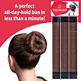 Hawwwy 3-Piece Hair Bun Maker, Easy Fast Snap