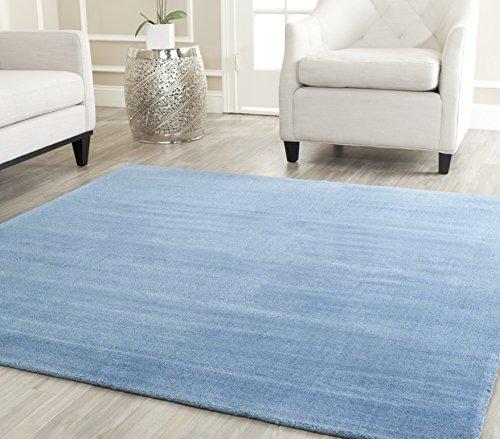 Safavieh Himalaya Collection HIM610D Handmade Blue Premium Wool Area Rug (8' x 10')