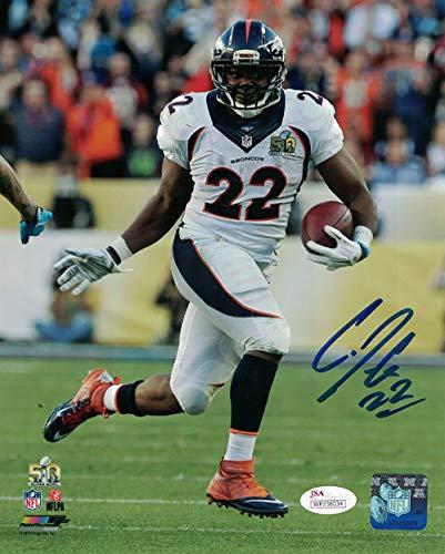 (CJ Anderson Autographed Denver Broncos 8x10 Photo (SB 50 White) JSA)