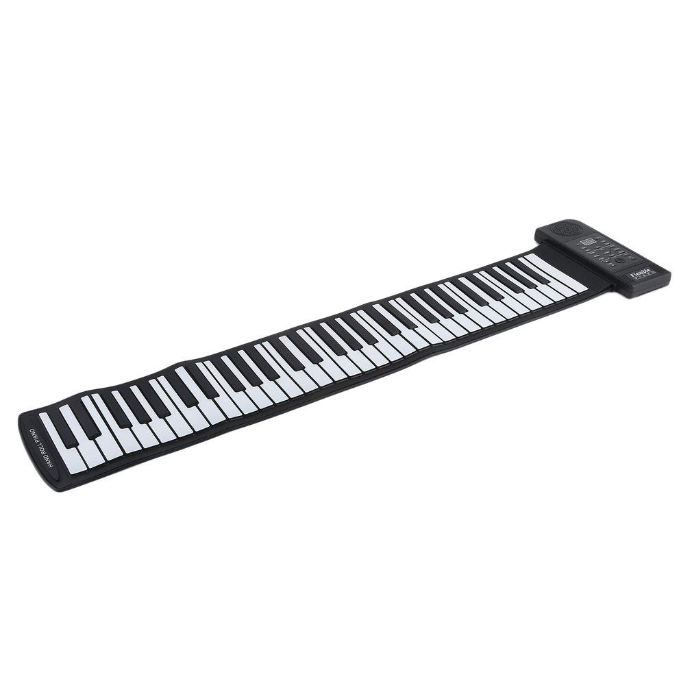 COMOTS 61 Keys Music Key Board Teaching Learning Electronic Organ Superior Roll Up Piano Children Great Gifts US Plug