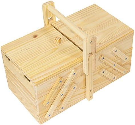 Costurero extensible de madera con 5 compartimentos: Amazon.es: Hogar