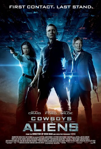 COWBOYS AND ALIENS MOVIE POSTER 2 Sided ORIGINAL 27x40 DANIE