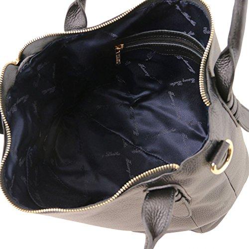 TLBag Main Sac Noir Souple Cuir Tuscany Magenta à Leather en xnTwSZI