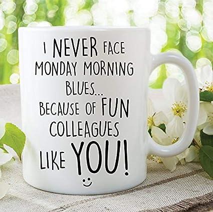 Funny Coffee Or Tea Mug Colleague Gift Coworker Best Fun Laughs Secret Santa
