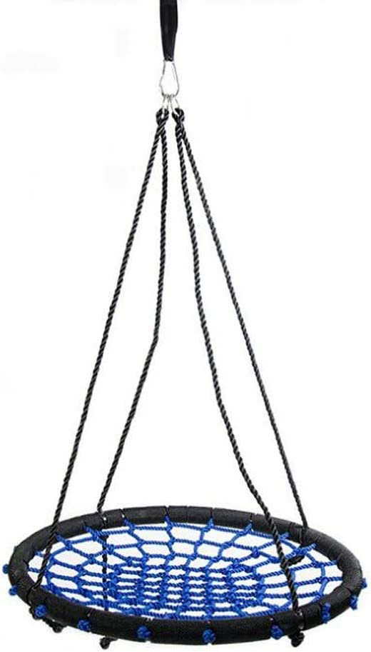 NZBⓇ Swing Home Round Swing Indoor Adult Sports Hammack Child Swing Rotatable Ajustable Rope Outdoor Toy Steel Frame 23inch Garden Swing