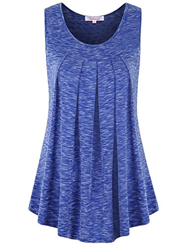 Blouse for Women ,Misswor Loft Clothig Crew Neck Maternity Tank Top Tunic Tee Summer Casual Wear Royal Blue XXL