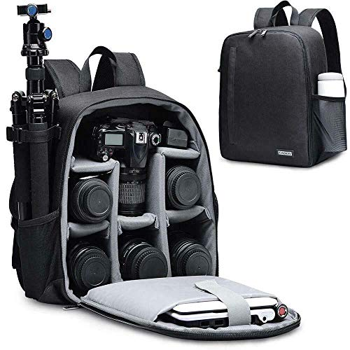 CADEN DSLR SLR Camera Bag Backpack for Mirrorless Cameras/Photographers, Camera Case Backpack for Nikon Canon Sony Lens Tripod Accessories Photography